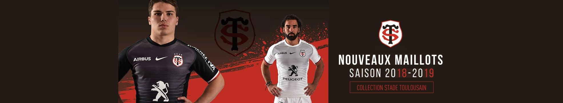 maillots stade toulousain collection 2018-2019