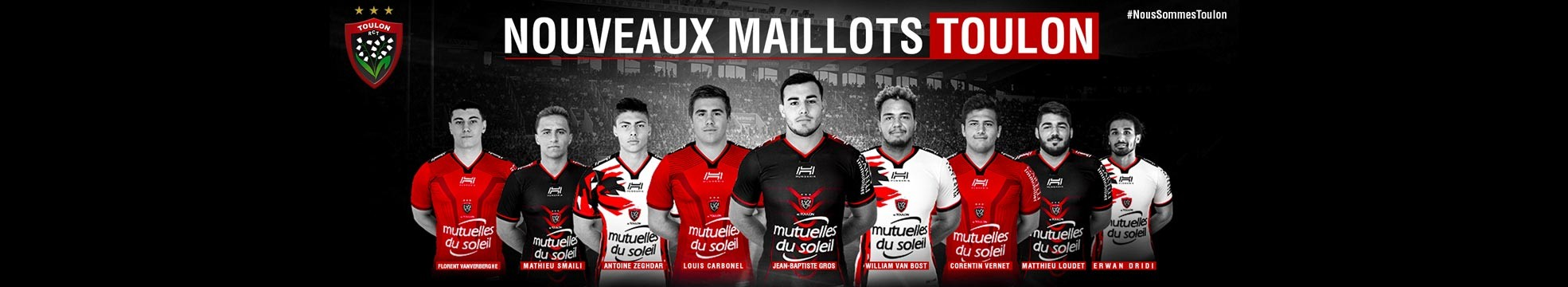 maillots rugby toulon